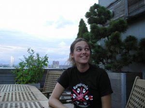 Jacky auf der Penthouse Terrasse