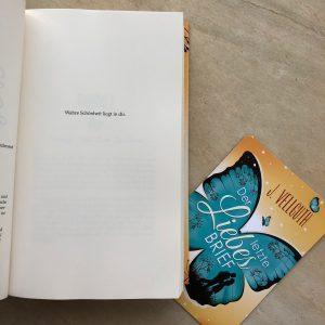 """""""Der letzte Liebesbrief"""" - Hardcover Zitat"""