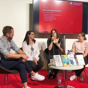 """Panel: """"Romance schreiben"""" mir Sarah Woolf, Alicia Zeit und Jana von Bergner"""